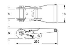 Ratel 50mm 2500daN formaat